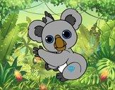 Dibujo Un Koala pintado por gav007a