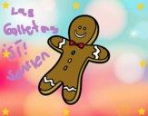 Una galleta navideña
