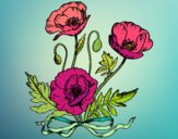 Dibujo Unas amapolas pintado por yussette