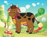 Dibujo Vaca de granja pintado por daniart12