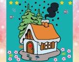 Dibujo Casa en la nieve pintado por yoanna3012