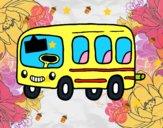 Dibujo Un autobús escolar pintado por quiceno