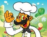Dibujo Chef pintado por aberto