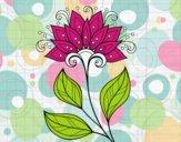 Dibujo Flor decorativa pintado por KEYSI