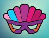 Dibujo Máscara con plumas pintado por KEYSI