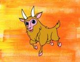 Dibujo Cabra macho pintado por meibol
