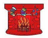 Dibujo Chimenea de Navidad pintado por Bertha1276