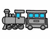 Dibujo Tren alegre pintado por Franco06