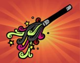 Dibujo Varita de mago pintado por kattw