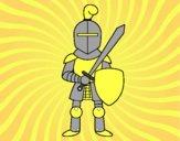 Dibujo Caballero con espada y escudo pintado por kioblack