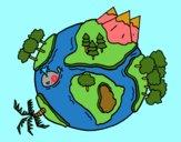 Dibujo Planeta natural pintado por  PRIRARITY