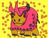 Dibujo Rinoceronte 4 pintado por  PRIRARITY