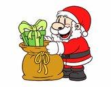 Dibujo Santa Claus ofreciendo regalos pintado por Bertha1276