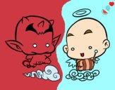 Dibujo Ángel o demonio pintado por lu-26