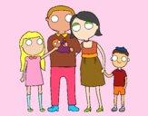Dibujo Familia unida pintado por jade2001
