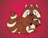 Madre mapache
