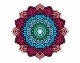 Dibujo Mandala estrella decorada pintado por Orianalas