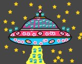 Dibujo OVNI extraterrestre pintado por  PRIRARITY