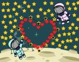 Dibujo Amor en el espacio pintado por stepha19