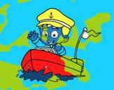 Barco y capitán