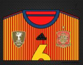Dibujo Camiseta del mundial de fútbol 2014 de España pintado por Quim_Espej