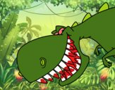 Dinosaurio de dientes afilados