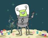 Extraterrestre con cuatro piernas