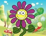 Dibujo Flor animada pintado por Memecito