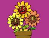 Dibujo Maceta de flores pintado por Memecito
