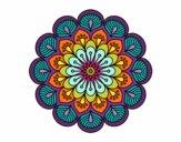 Mandala flor y hojas