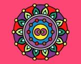 Dibujo Mandala meditación pintado por POCHA24