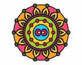 Dibujo Mandala meditación pintado por MariaCaste