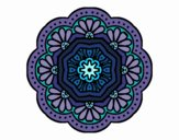 Dibujo Mandala mosaico modernista pintado por Orianalas