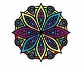 Dibujo Mandala para la concentración pintado por POCHA24