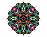 Dibujo Mandala para la concentración pintado por MariaCaste