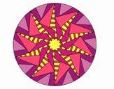 Dibujo Mandala sol triangular pintado por Orianalas