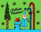 Postal Felices Fiestas