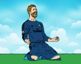 Sergio Ramos celebrando un gol