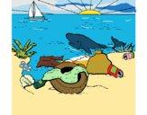 Dibujo Tierra contaminada pintado por jufra34