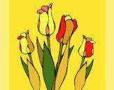 Dibujo Tulipanes pintado por Memecito