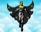 Dibujo Un Super héroe volando pintado por Quim_Espej
