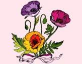 Dibujo Unas amapolas pintado por Memecito