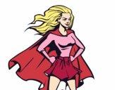 Dibujo Super chica pintado por GIULIANA09