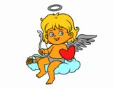 Cupido en una nube