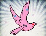 Paloma de la paz al vuelo