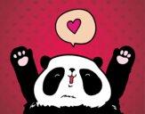 Dibujo Panda enamorado pintado por the-lindas
