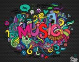 Dibujo Collage musical pintado por BarbiT