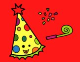 Dibujo Sombrero de fiesta pintado por azabache