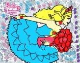 Dibujo Barbie en un saludo de agradecimiento pintado por ingrid09