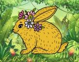 Dibujo Conejo primaveral pintado por stepha19